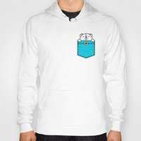 pocket Hoodies featuring Pocket Polar by Steven Toang