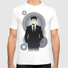 Phoenix Wright - 10th Anniversary Print MEDIUM Mens Fitted Tee White