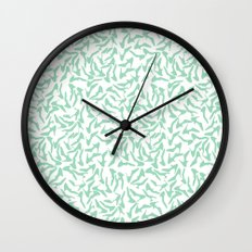 Shoes Mint on White Wall Clock