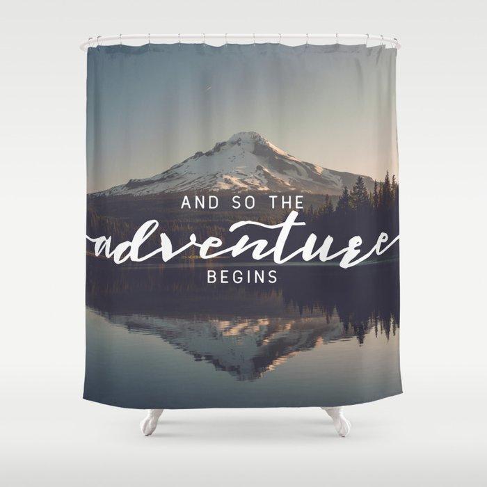 Trillium Adventure Begins - Nature Photography Shower Curtain