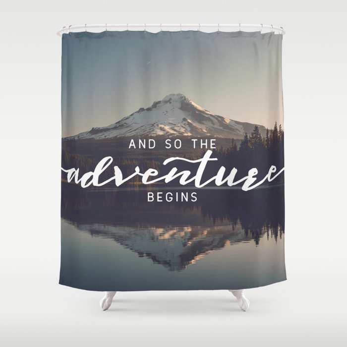 Trillium Adventure Begins - Nature Photography Shower Curtain