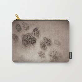 Snowy Paw Prints Carry-All Pouch