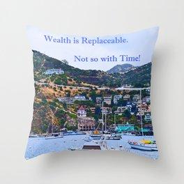 """""""Catalina Harbor""""/ """"Time"""" Throw Pillow"""
