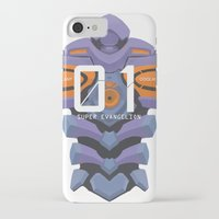 evangelion iPhone & iPod Cases featuring EVANGELION ANIMA UNIT 01 BACK by F4LLEN_LEAF