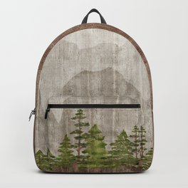Mountain Range Woodland Forest Backpack
