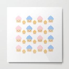 Cupcake family pattern Metal Print