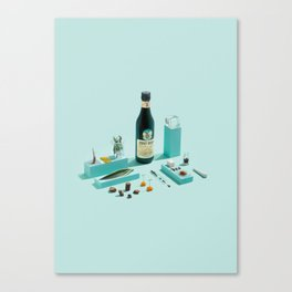 Fernet Deconstruction Canvas Print