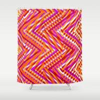 chevron Shower Curtains featuring Chevron  by Aimee St Hill