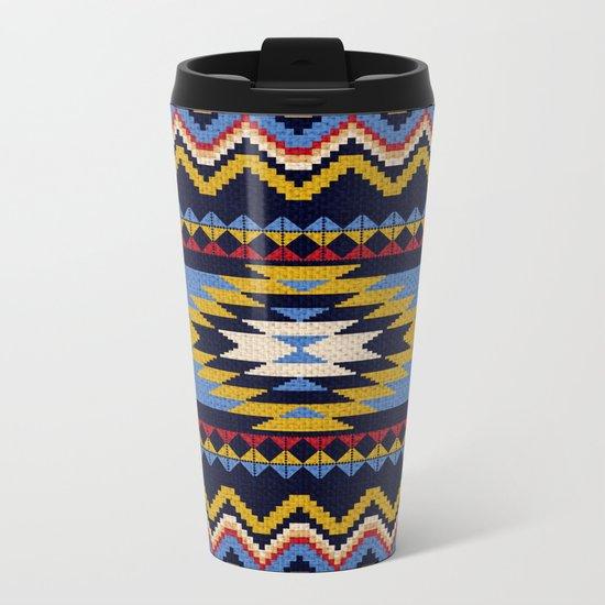 Aztec pattern Metal Travel Mug