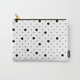 Pin Points Polka Dot Black and White Carry-All Pouch
