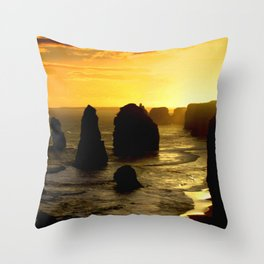 Sunset over the Twelve Apostles - Australia Throw Pillow
