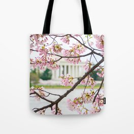Jefferson through the Blossoms Tote Bag