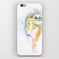 buffy the vampire slayer iPhone & iPod Skins featuring Buffy the Vampire Slayer by Nasstache