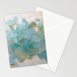 Ocean Hue Sea Glass Stationery Cards