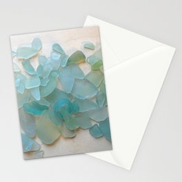 Ocean Hue Sea Glass Stationery Cards
