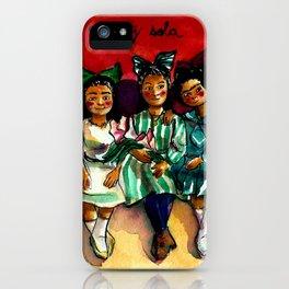 No voy sola iPhone Case