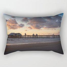 Sunset At Blackpool North Pier Rectangular Pillow