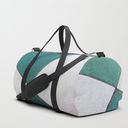 Teal Tiles Duffle Bag