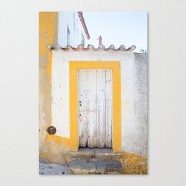 Yellow Gate, Obidos Canvas Print