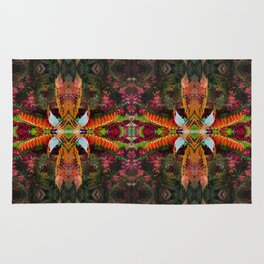 267 - Abstract foliage pattern Rug