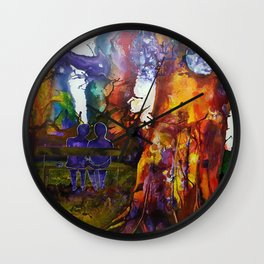 Peace Among Giants Wall Clock