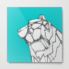 Polar bear hand drawn illustration Metal Print