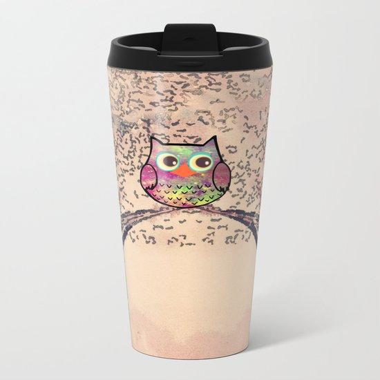 owl-245 Metal Travel Mug
