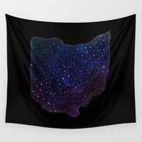 ohio Wall Tapestries featuring Ohio StarStuff by Yespo Designs