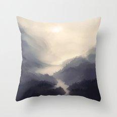 Mistscape Throw Pillow