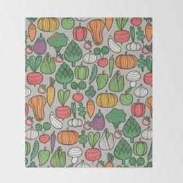 Farm veggies Throw Blanket