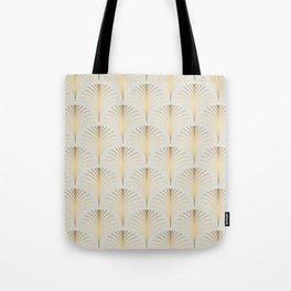 Golden Fan Art Deco Classic Pattern Tote Bag