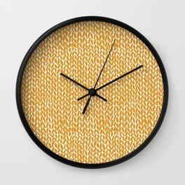 Hand Knit Orange Wall Clock