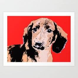 """Twist and Shout"" ~ Dachshund, Weiner Dog, Doxie, everywhere! Art Print"