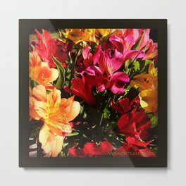 Summer Rainbow of Flower Blossoms Metal Print