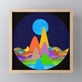 Fanciful Hills -2 Framed Mini Art Print