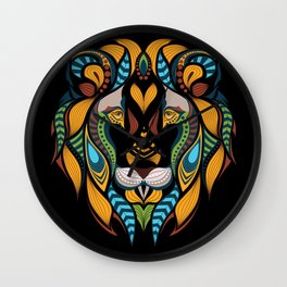 African Lion Head Wall Clock