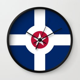 indianapolis city flag united states of america Wall Clock