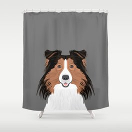 Jordan - Shetland Sheep Dog gifts for sheltie owners and dog people gift ideas perfect dog gifts Shower Curtain