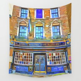 The Prospect Of Whitby Pub Pop Art Wall Tapestry