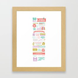 50 Ways For Kids to Stay Creative Framed Art Print