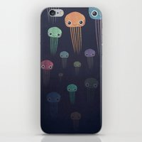 jellyfish iPhone & iPod Skins featuring Jellyfish by Andrew Fox