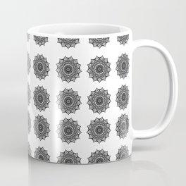 Black and White Mandala | Secret Geometry Coffee Mug