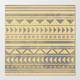 Ethnic geometric pattern with triangles circles and lines Canvas Print