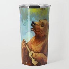 Bear and ukulele Travel Mug