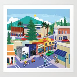Town of Los Gatos (A Day in the Life) Art Print