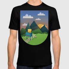 Over The Hills MEDIUM Black Mens Fitted Tee
