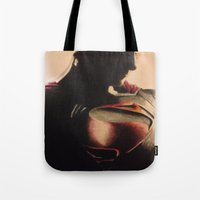 man of steel Tote Bags featuring Man of steel by BTailor