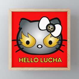Hello Lucha Framed Mini Art Print