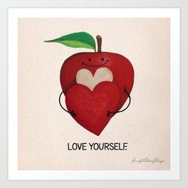 Love Yourself Apple Print Art Print