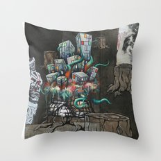 Mending the Stumped Throw Pillow